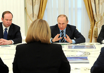 На встрече с Путиным Памфилова от возмущения постучала по столу