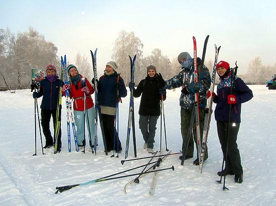 Как в Омске проходит лыжный сезон