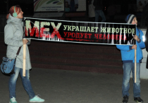 Зоозащитники Омска приняли участие в международной акции «Животные – не одежда»