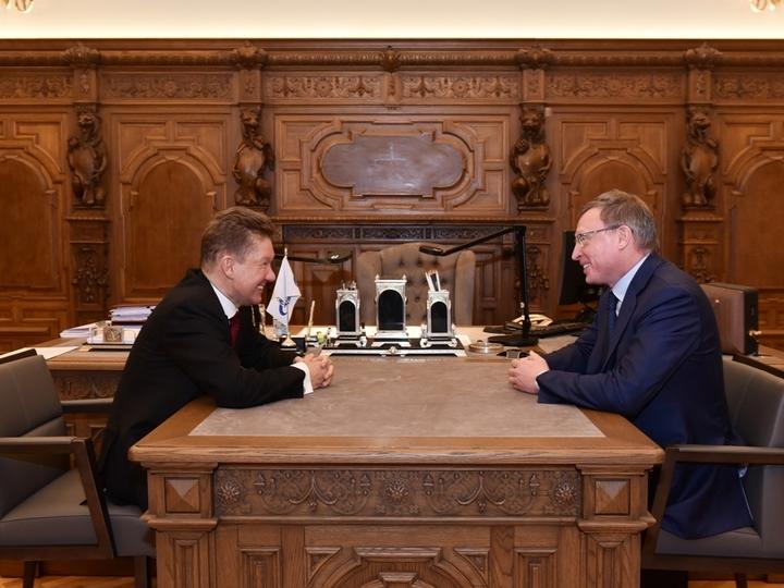 Бурков договорился сМиллером обувеличении снобжения деньгами программы газификации Омской области